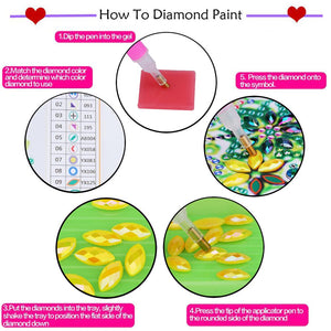 Cartoon Kids Special Full Drill Diamond Painting 20X15CM(Canvas)