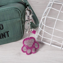 Load image into Gallery viewer, Full Drill Special Shaped Diamond Painting Bear Paw Keychain Bag Pendant