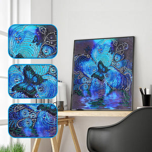 butteryfly Special Part Drill Diamond Painting 30X30CM(Canvas)