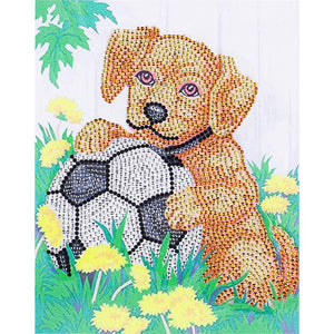 Dog Special Part Drill Diamond Painting 30X25CM(Canvas)