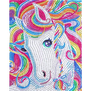 Animal Special Part Drill Diamond Painting 30X25CM(Canvas)