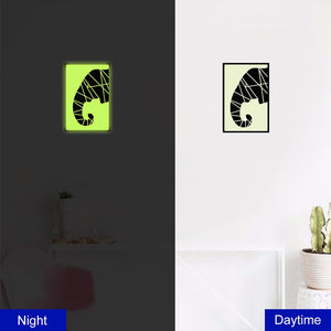 Elephant Nose Luminous Wall Sticker PVC Removable Decals Bedroom Home Decor