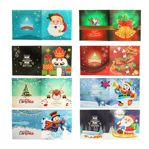 5D DIY Diamond Painting Greeting Card Special-shaped Birthday Festival Gift