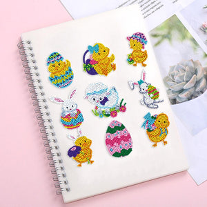 DIY Full Drill Round Diamond Painting Cartoon Animal Stickers Children Gift