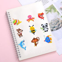 Load image into Gallery viewer, DIY Full Drill Round Cute Animals Diamond Painting Puzzle Children Stickers