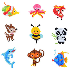 DIY Full Drill Round Cute Animals Diamond Painting Puzzle Children Stickers