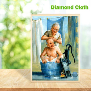 Older Couples Round Full Drill Diamond Painting 30X40CM(Canvas)