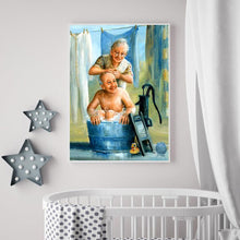 Load image into Gallery viewer, Older Couples Round Full Drill Diamond Painting 30X40CM(Canvas)