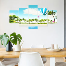 Load image into Gallery viewer, 5pcs Beach Round Full Drill Diamond Painting 95X45CM(Canvas)