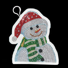 Load image into Gallery viewer, DIY Special Shaped Diamond Painting Snowman Wallet Embroidery Coin Purse
