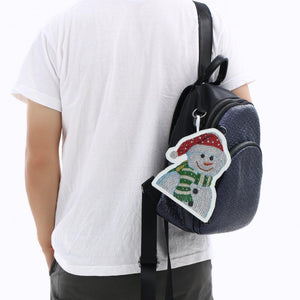 DIY Special Shaped Diamond Painting Snowman Wallet Embroidery Coin Purse
