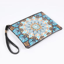Load image into Gallery viewer, DIY Mandala Special Shaped Diamond Painting Wristlet Clutch Zipper Wallet