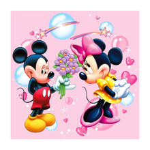 Load image into Gallery viewer, Mickey Mouse Round Full Drill Diamond Painting 30X30CM(Canvas)