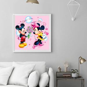 Mickey Mouse Round Full Drill Diamond Painting 30X30CM(Canvas)