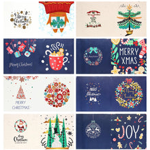 Load image into Gallery viewer, 8pcs DIY Special Shaped Diamond Painting Cartoon Christmas Card Kids Gift