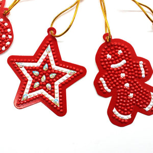 10pcs DIY Full Drills Diamond Painting Special Shape Christmas Tree Pendant