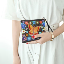 Load image into Gallery viewer, DIY Butterfly Special Shaped Diamond Painting Wristlet Clutch Women Wallet