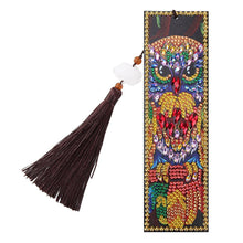 Load image into Gallery viewer, DIY Owl Special Shaped Diamond Painting Leather Bookmarks with Tassel Gifts