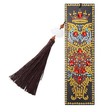 Load image into Gallery viewer, DIY Owl Special Shaped Diamond Painting Leather Bookmark Tassel Book Marks