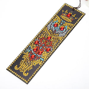 DIY Owl Special Shaped Diamond Painting Leather Bookmark Tassel Book Marks