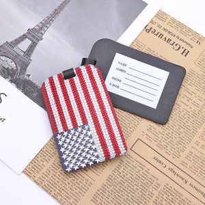 DIY Special Shaped Diamond Painting Star Stripe Flag Leather Boarding Pass