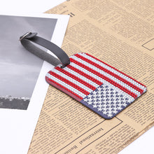 Load image into Gallery viewer, DIY Special Shaped Diamond Painting Star Stripe Flag Leather Boarding Pass