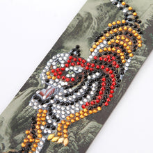 Load image into Gallery viewer, DIY Tiger Special Shape Diamond Painting Creative Leather Tassel Book Marks