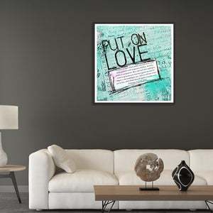Letter Love Round Full Drill Diamond Painting 30X30CM(Canvas)