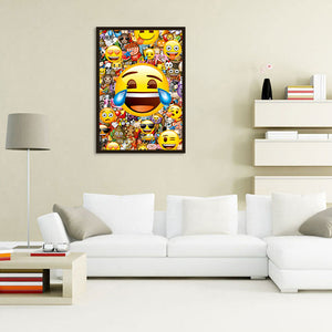 Happy Smile Round Full Drill Diamond Painting 30X40CM(Canvas)