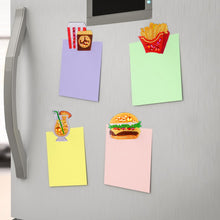 Load image into Gallery viewer, 4pcs DIY Full Drill Diamond Burger Fries Food Embroidery Fridge Magnets