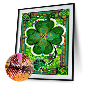 Lucky Flower Round Full Drill Diamond Painting 30X40CM(Canvas)