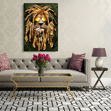 Load image into Gallery viewer, Lion Round Full Drill Diamond Painting 30X40CM(Canvas)