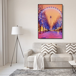 Ferris Wheel Round Full Drill Diamond Painting 30X40CM(Canvas)