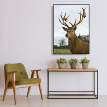 Load image into Gallery viewer, Elk Round Full Drill Diamond Painting 30X40CM(Canvas)