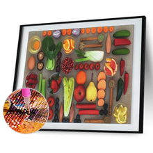 Load image into Gallery viewer, Fruit Vegetables Beaded Round Full Drill Diamond Painting 30X40CM(Canvas)