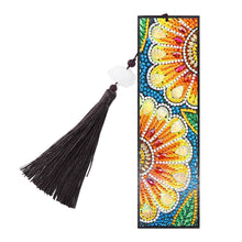 Load image into Gallery viewer, DIY Special Shape Diamond Painting Leather Bookmark Embroidery Craft Tassel