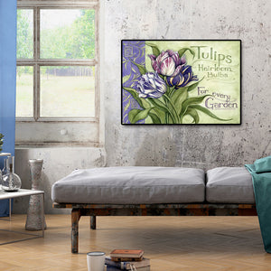 Flower Name Round Full Drill Diamond Painting 40X30CM(Canvas)