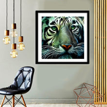 Load image into Gallery viewer, Novelty Tiger Round Full Drill Diamond Painting 30X30CM(Canvas)