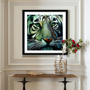 Novelty Tiger Round Full Drill Diamond Painting 30X30CM(Canvas)