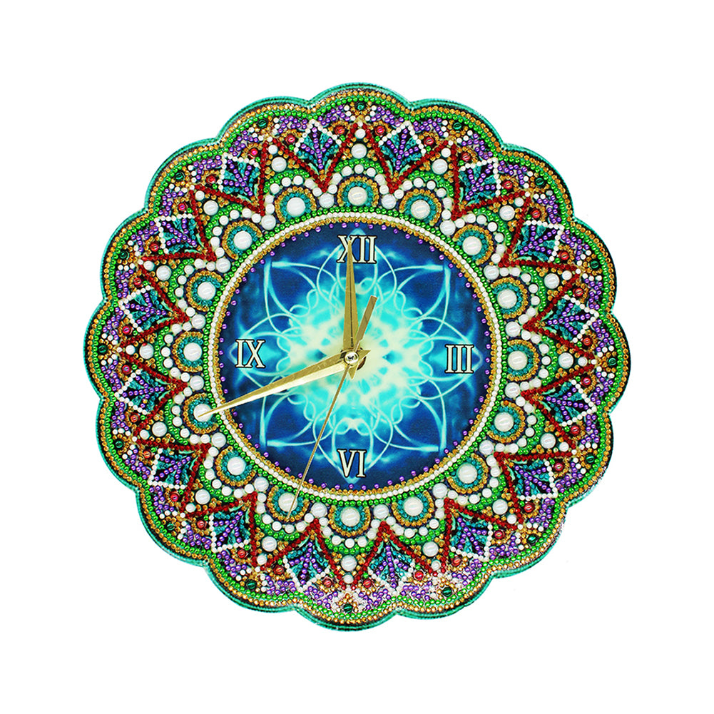 Mandala Wall Clock Diamond Painting Special Shaped Cross Stitch for Gifts