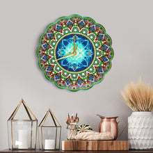 Load image into Gallery viewer, Mandala Wall Clock Diamond Painting Special Shaped Cross Stitch for Gifts