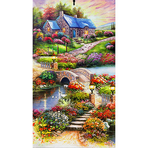 Countryside Landscape Special Full Drill Diamond Painting 45X85CM(Canvas)