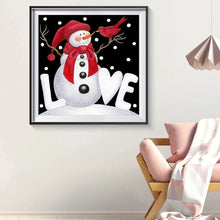 Load image into Gallery viewer, Christmas Snowman Round Full Drill Diamond Painting 30X30CM(Canvas)