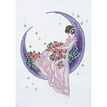 Load image into Gallery viewer, Girl Moon Crystal Special Part Drill Diamond Painting 30X40CM(Canvas)