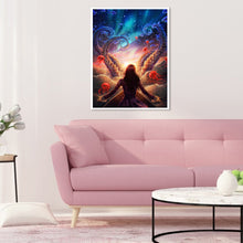 Load image into Gallery viewer, Sci-Fi Beauty Round Full Drill Diamond Painting 30X40CM(Canvas)