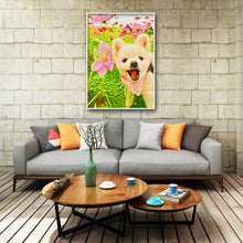 Load image into Gallery viewer, Dog Animal Round Full Drill Diamond Painting 30X40CM(Canvas)