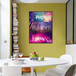 Letters Bead Round Full Drill Diamond Painting 40X50CM(Canvas)