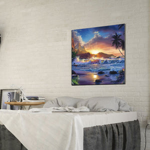 Sea Wave Point Round Full Drill Diamond Painting 30X30CM(Canvas)