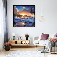 Load image into Gallery viewer, Sea Wave Point Round Full Drill Diamond Painting 30X30CM(Canvas)