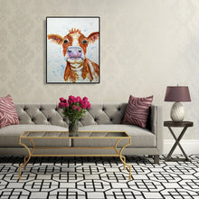 Load image into Gallery viewer, Cattle Drawing Round Full Drill Diamond Painting 30X40CM(Canvas)